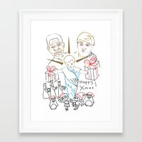 atheist Framed Art Prints featuring Atheist Christmas by Braven