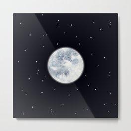 Watercolor Full Moon Metal Print