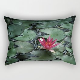 Lost Among the Lily Pads Rectangular Pillow