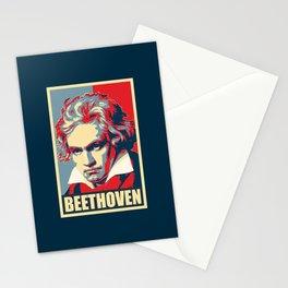 Beethoven Propaganda Poster Pop Art Stationery Cards