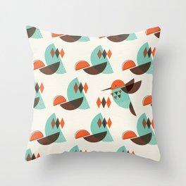 Brid Century Modern - Bird I Throw Pillow