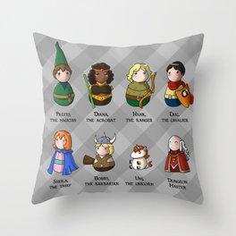 Boticcelli inspired by Monigotadas Throw Pillow