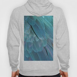 Blue Macaw Feathers Hoody