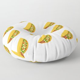 Taco Pattern with Transparent Background Floor Pillow