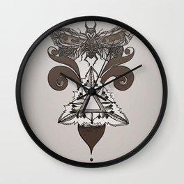 Moth Mediator Wall Clock