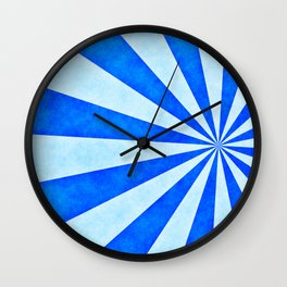 Blue sunburst Wall Clock
