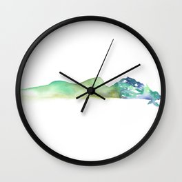 Fall of the Tree Goddess - Cool Tones Wall Clock