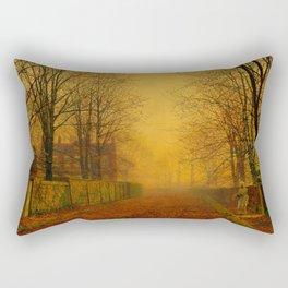 John Atkinson Grimshaw - Evening Glow - Victorian Retro Vintage Painting Rectangular Pillow