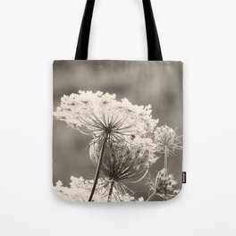 Lace in the Meadow BW II Tote Bag