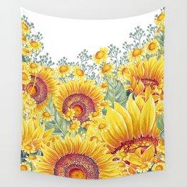 Vintage Garden 15 (Sunflower Field) Wall Tapestry