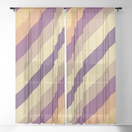 Colorful Lines Sheer Curtain