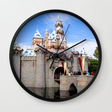 Sleeping Beauty's Holiday Castle Wall Clock
