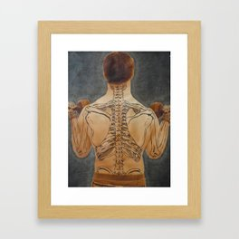 Weight of Anatomy on Society Framed Art Print