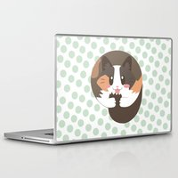 fat Laptop & iPad Skins featuring Fat Fat the Cat! by Fat Fat