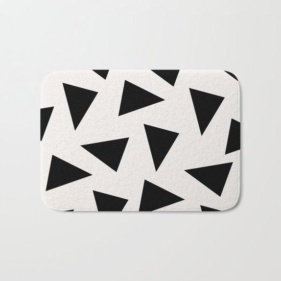 black triangle pattern II Bath Mat