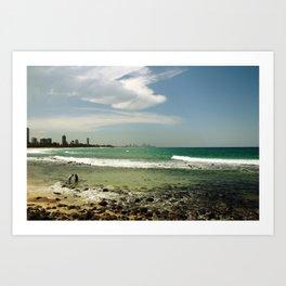 City Beach Art Print