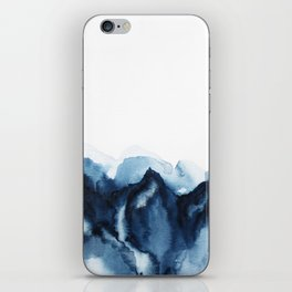 Abstract Indigo Mountains iPhone Skin
