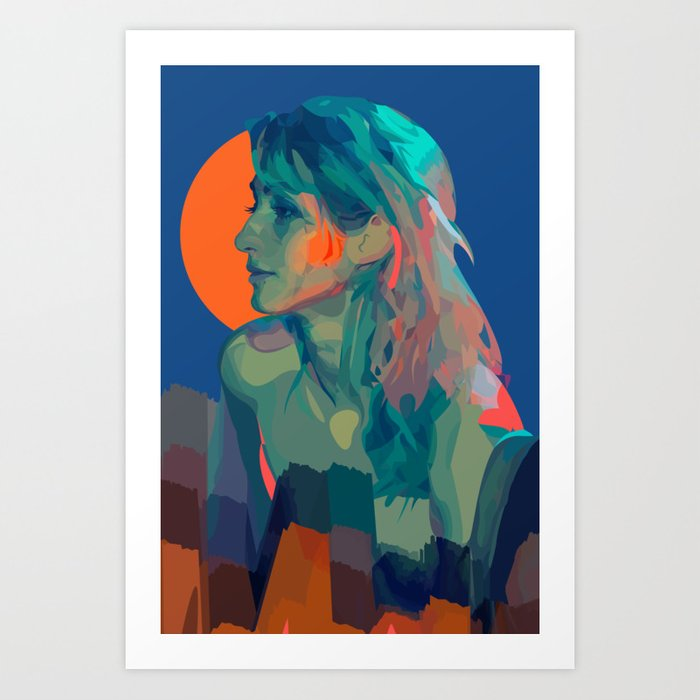 Muse Of The Mountains Art Print
