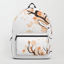 Deer Sakura Flower Backpack