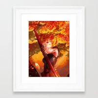 dragon age inquisition Framed Art Prints featuring Dragon Age Inquisition - Sera by Niklisson