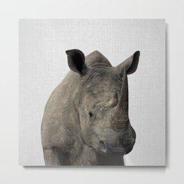 Rhino - Colorful Metal Print