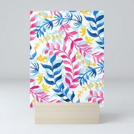 Vibrant Gouache Sea Plants  Mini Art Print