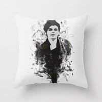 sketch Throw Pillows featuring Sketch by Stefano Messina