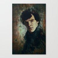 sherlock Canvas Prints featuring Sherlock by Sirenphotos
