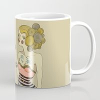 bride Mugs featuring Sea Bride by Lilla Bölecz