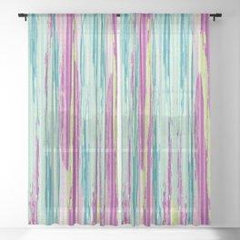 Aqua Purple Abstract Sheer Curtain