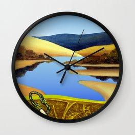 Water Meets Sand: Te Paki Stream Wall Clock