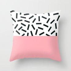 Memphis pattern 20 Throw Pillow