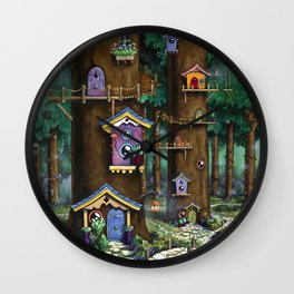 Forest Neighbors Wall Clock