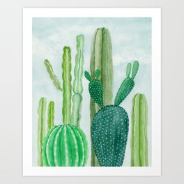 All the Lil Cacti Art Print