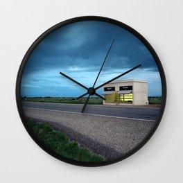 Highway 90, West of Marfa Wall Clock