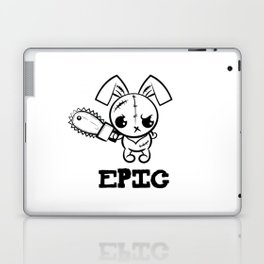 Epic Grumpy Voodoo Bunny Cute Bigfoot Monsters Laptop & iPad Skin