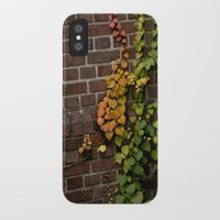 climbing iPhone & iPod Cases featuring Climbing by C. Wie Design