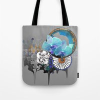 orchid Tote Bags featuring Orchid by Sabah