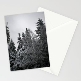 Snowy Sky and Trees Stationery Cards