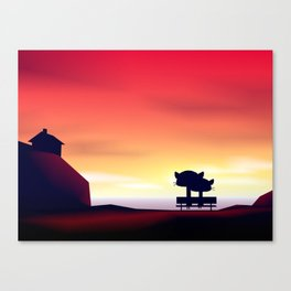 Please Say Something - Sunset Canvas Print