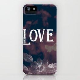 Flower Power Love iPhone Case