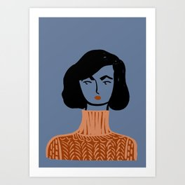 Sweater Gurl Art Print