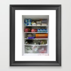 Fridge Candies Oct 1   [REFRIGERATOR] [FRIDGE] [WEIRD] [FRESH] Framed Art Print