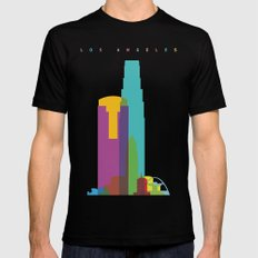 Shapes of Los Angeles accurate to scale Black MEDIUM Mens Fitted Tee