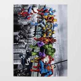 Superhero Lunch Meetup Poster
