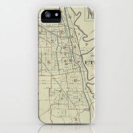 Vintage Map of Utica New York (1883) iPhone Case