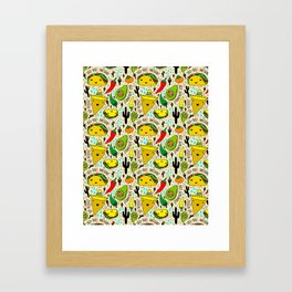 Kawaii Fiesta Framed Art Print