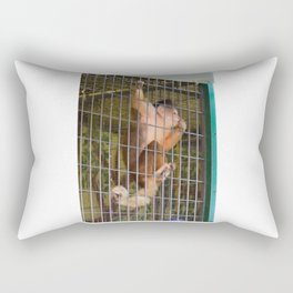 Monkey in Cage Rectangular Pillow
