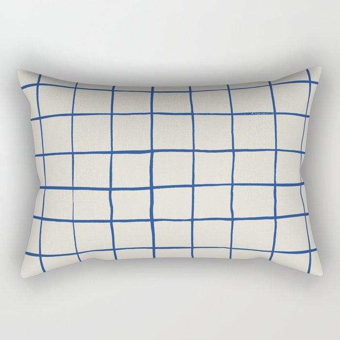 BASIC   CRISS CROSS BLUE Rectangular Pillow