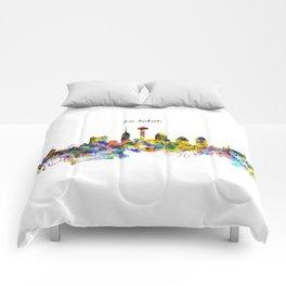 San Antonio Skyline Silhouette Comforters